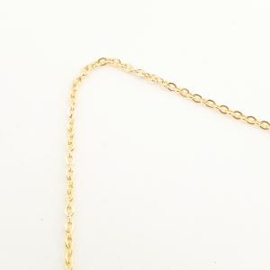 Lantisor 44-50 cm placat cu aur Derby6