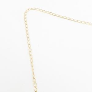 Lantisor 50 cm placat cu aur Jamie2