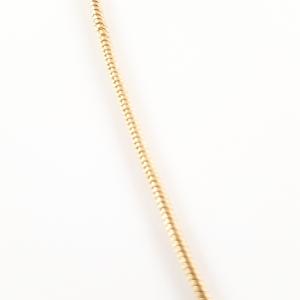 Lantisor tip sarpe placat cu aur 46 cm Roxanna1