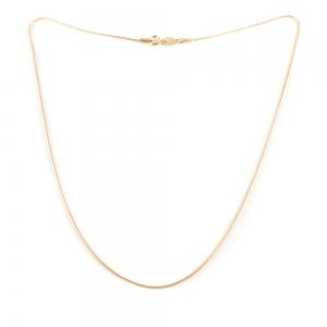 Lantisor tip sarpe placat cu aur 46 cm Roxanna0