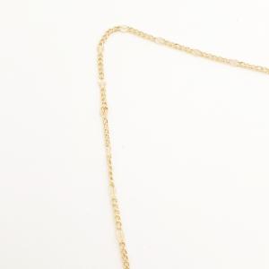 Lantisor 44 cm placat cu aur Kim2