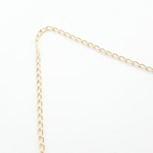 Lantisor 40 cm placat cu aur Lee2
