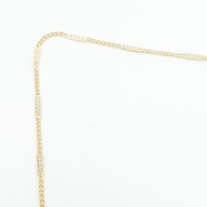 Lantisor placat cu aur 50 cm Ray2