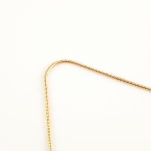 Lantisor tip sarpe placat cu aur 46 cm Roxanna3