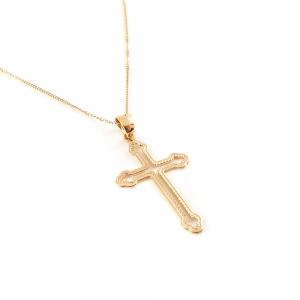 Lantisor si cruce placate cu aur Amen3