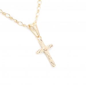 Lantisor si cruciulita placate cu aur Santa Maria0
