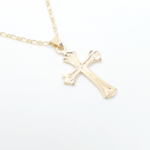 Lantisor si cruciulita placate cu aur Signature1