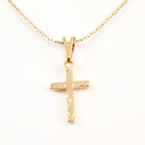 Lantisor si cruciulita placate cu aur Elias2