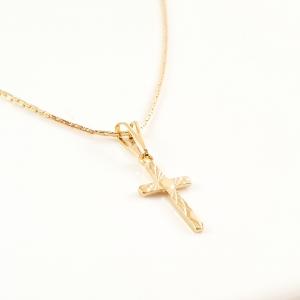 Lantisor si cruciulita placate cu aur Elias3