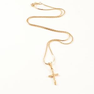 Lantisor si cruciulita placate cu aur Elias5