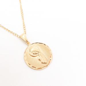 Lantisor si iconita placate cu aur Evya1