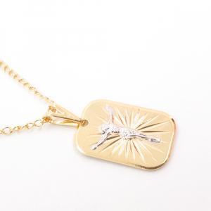 Lantisor si cruciulita placate cu aur Cinna2