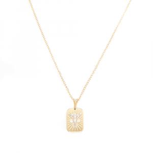 Lantisor si cruciulita placate cu aur Cinna3