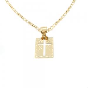 Lantisor si cruciulita placate cu aur Saint0