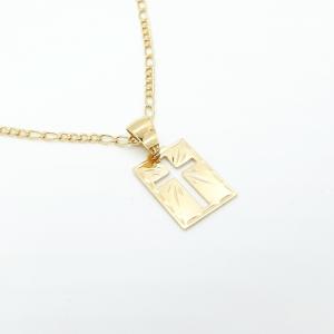 Lantisor si cruciulita placate cu aur Saint2