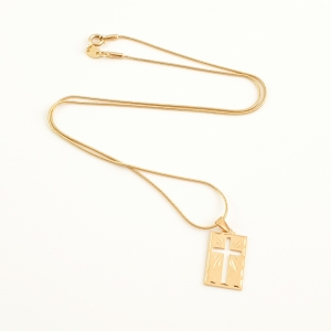 Lantisor si cruciulita placate cu aur Saint5