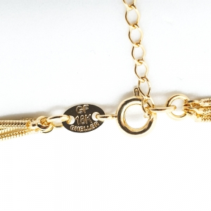 Lantisor triplu placat cu aur Ester2