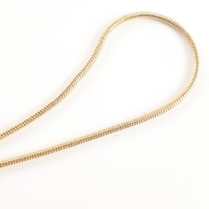 Lantisor tip sarpe 45 cm placat cu aur Judie0