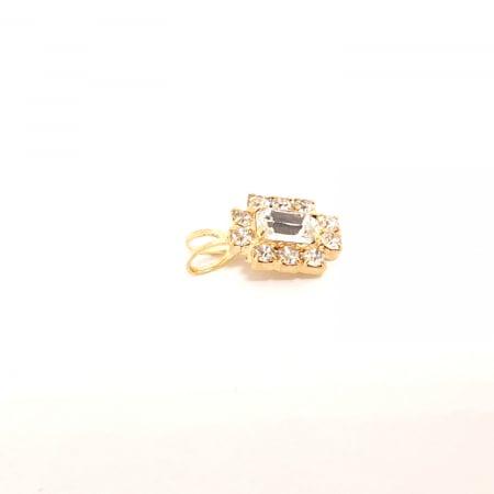 Pandantiv cu cristal zirconia placat cu aur Praddas1