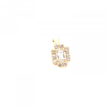 Pandantiv cu cristal zirconia placat cu aur Praddas [0]