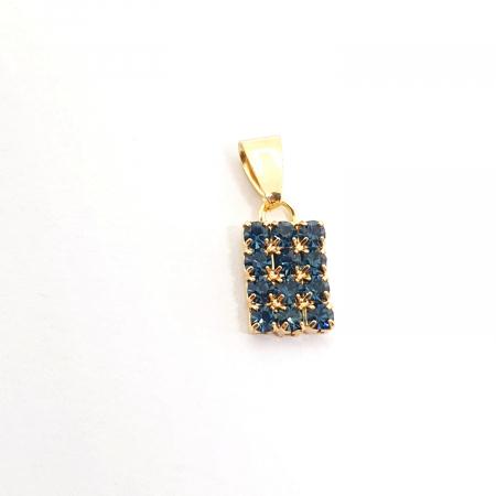 Pandantiv cu cristale zirconia placat cu aur InstaCool [0]
