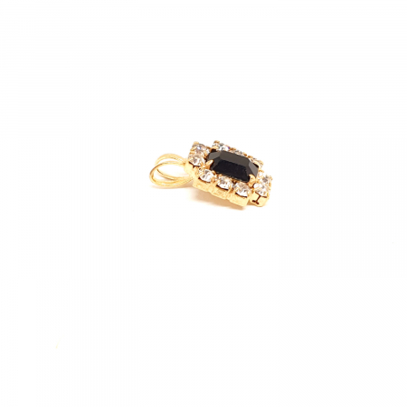 Pandantiv cu cristal zirconia placat cu aur Re-Belle1
