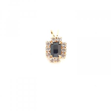 Pandantiv cu cristal zirconia placat cu aur Re-Belle0