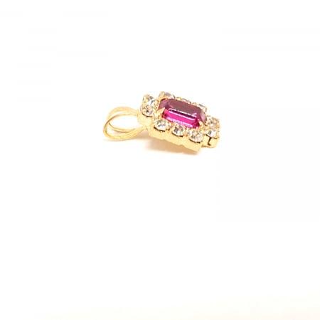 Pandantiv cu cristal zirconia placat cu aur Agile1