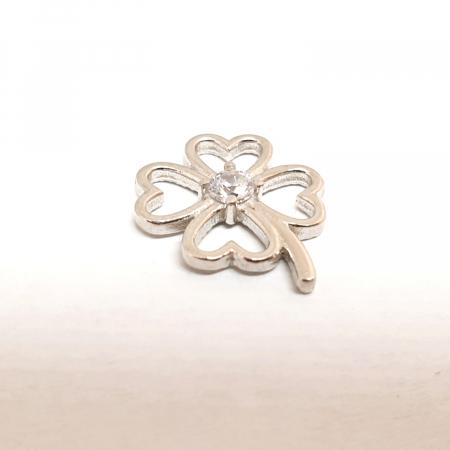 Pandantiv din argint rodiat White Flower1