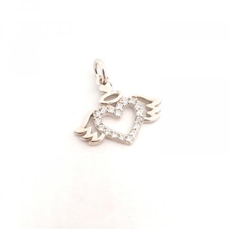 Pandantiv din argint rodiat Cupidon0