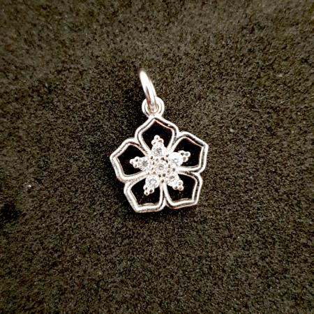 Pandantiv din argint rodiat Cubiq Flower [0]