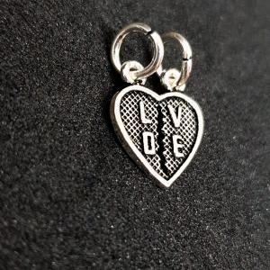 Pandantiv din argint rodiat Love1