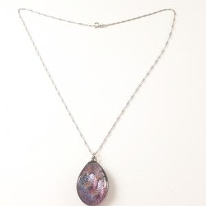 Colier cu sticla de Murano si argint Galaxy1