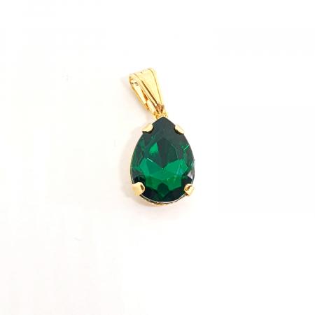 Pandantiv verde-smarald placat cu aur Gem [0]