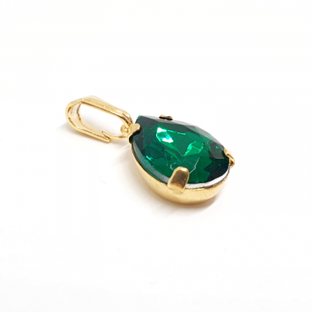 Pandantiv verde-smarald placat cu aur Gem [1]