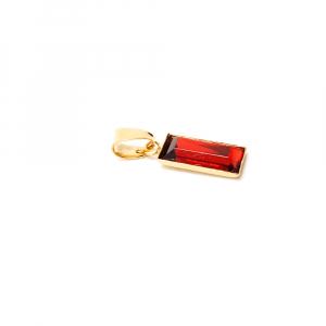 Pandantiv dreptunghiular rosu placat cu aur Tender1