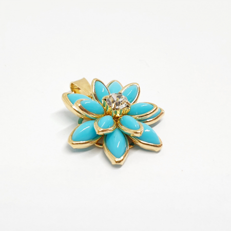Pandantiv-floare placat cu aur Gesture [1]