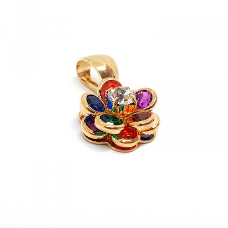 Pandantiv-floare placat cu aur Joy [1]