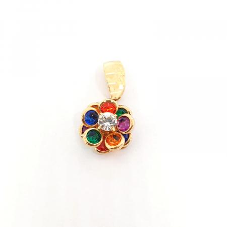 Pandantiv-floare placat cu aur Joy [0]