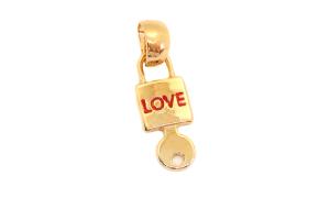 Pandantiv in forma de lacatel si cheie placat cu aur Love [0]