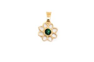 Pandantiv in forma de floare placat cu aur SaraTremo [0]