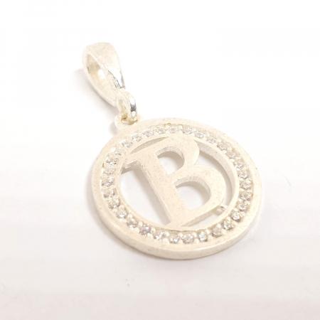 Pandantiv litera B din argint SaraTremo [0]