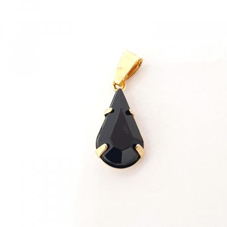 Pandantiv negru-abanos placat cu aur Olivia [0]