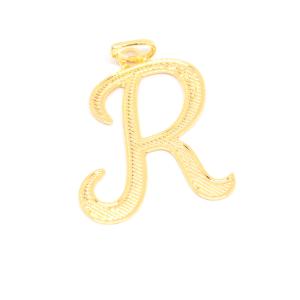 Pandantiv placat cu aur litera R0