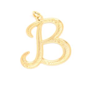 Pandantiv placat cu aur litera B0