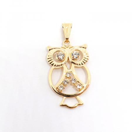 Pandantiv-bufnita placat cu aur Unissima [0]