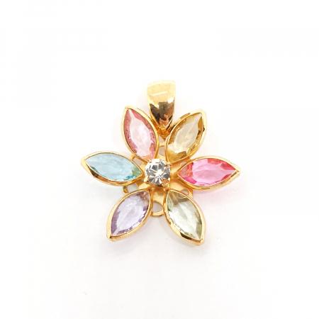 Pandantiv-floare placat cu aur Bloom [0]