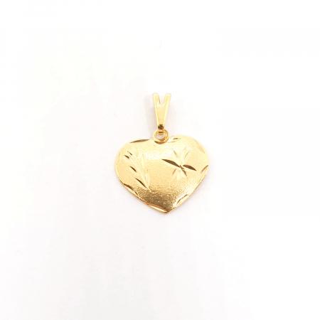 Pandantiv-inimioara placat cu aur JFK [0]