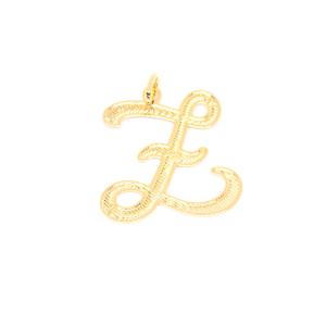 Pandantiv stilizat placat cu aur litera Z0
