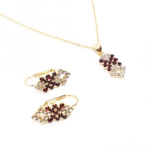 Set bijuterii placate cu aur Caliope2